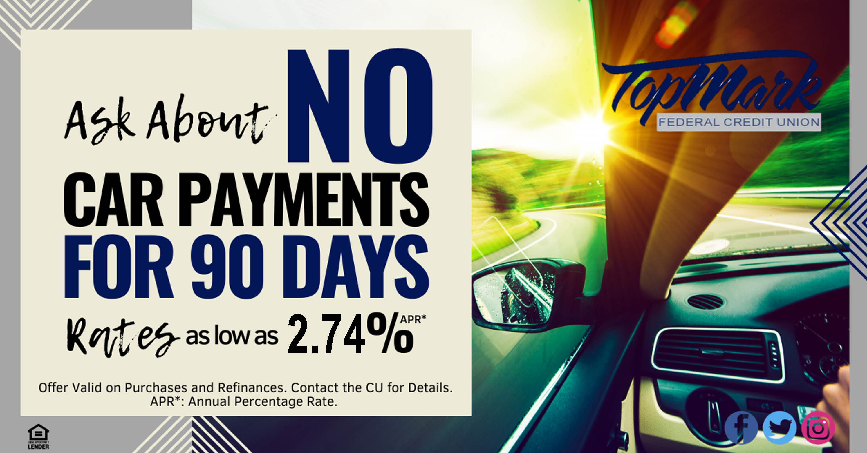 No Payment for 90-Days 2.74%